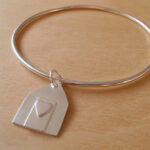 Silver Beach Hut Bangle