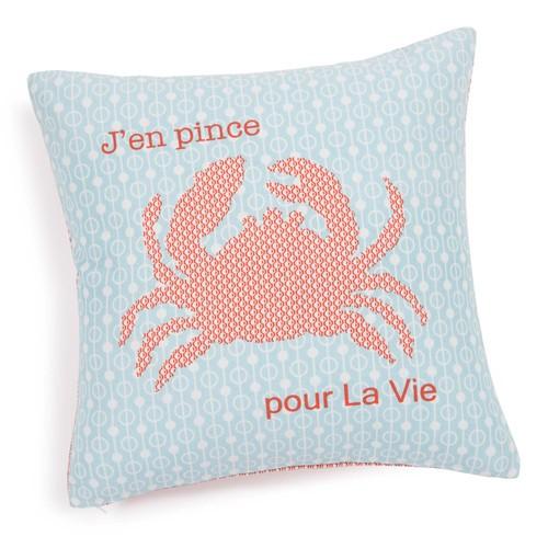 Beach Hut Decor Under £20 Crab Cushion Cover