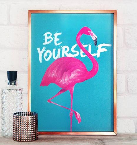 Beach Hut Decor Under £20 Flamingo Print
