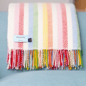 Beach Hut Decor Mood Board Millie Ice-Cream Throw