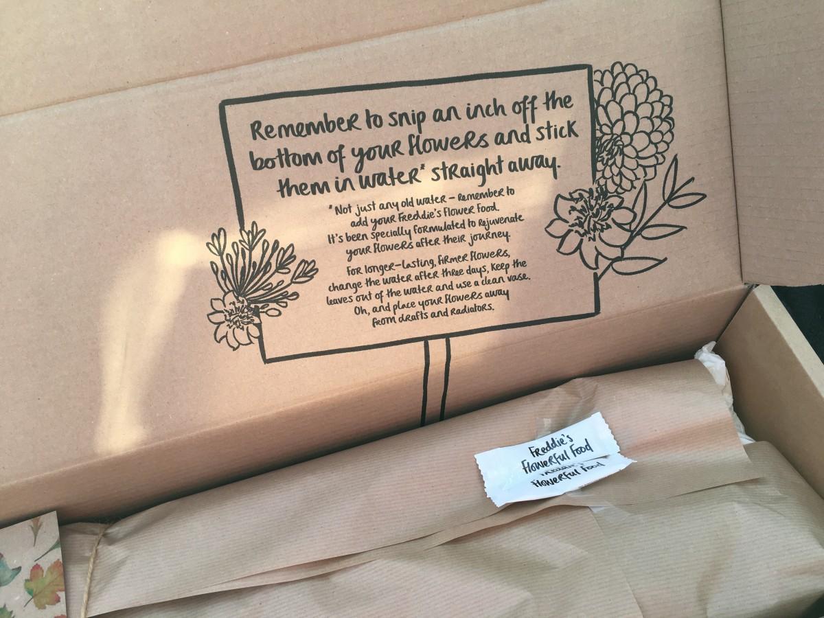 Flower Subscription Box Packaging Freddie's Flowers