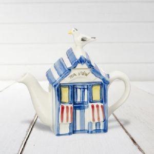 Gifts for a Beach Hut Fan - Beach Hut Teapot