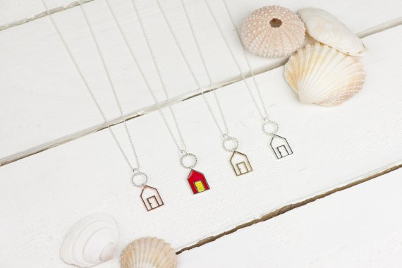 Gifts for a Beach Hut Fan - Beach Hut Necklace