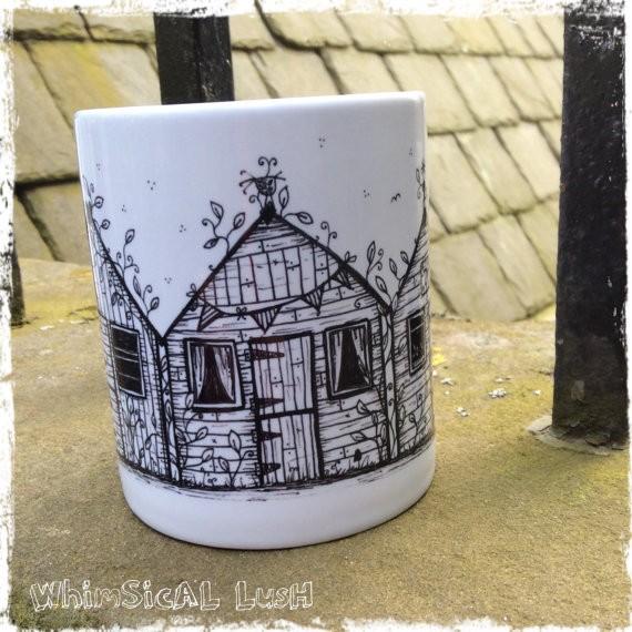 Gifts for a Beach Hut Fan - Beach Hut Mug
