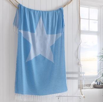 Gifts for a Beach Hut Fan - Blue Star Hamman towel