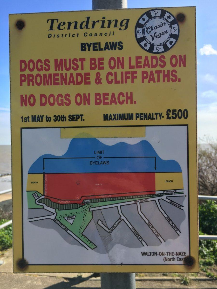 Eastcliff Beach Walton on the Naze Dog Restrictions