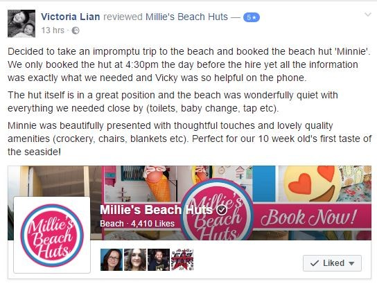 Millie's Beach Huts Reviewed