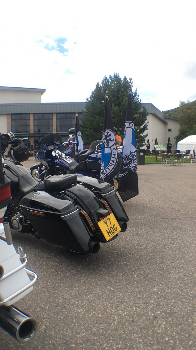 Harley Davidson bike Thunder in the Glens 2016