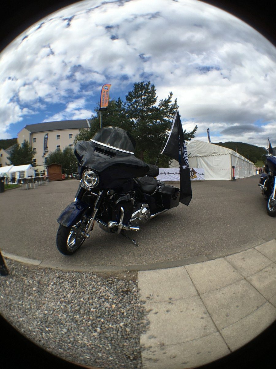 arley Davidson bike Thunder in the Glens 2016