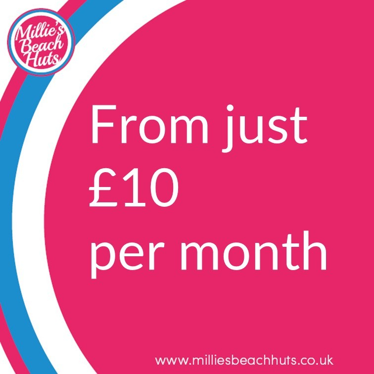 Millie's Beach Hut Club Beach Hut Hire Starting at £10 per month