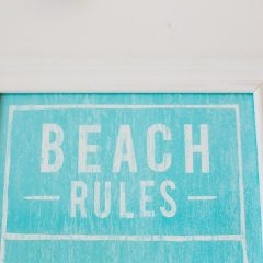 Millie's Beach Hut Club Beach Hut Hire Rules Sign