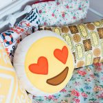 Millie's Beach Hut Club Beach Hut HIre Round Love Emoji Cushion