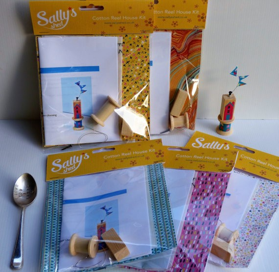 Gifts for a Beach Hut Fan - Build your own cotton reel house Sally's Sheds