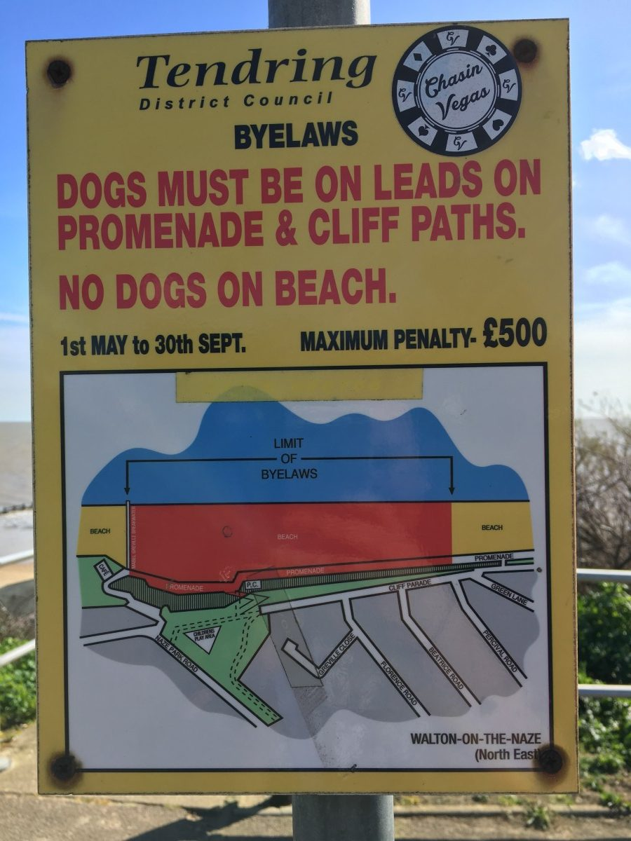 Eastcliff Beach Walton on the Naze Dog Restrictions