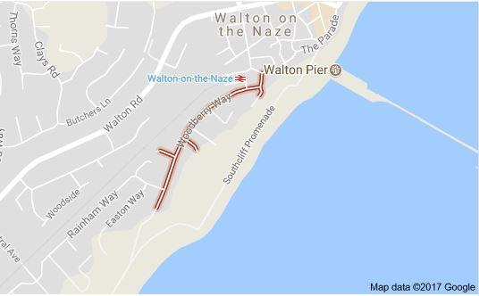 Walton-on-the-Naze Beach Hut Hire Car Parking