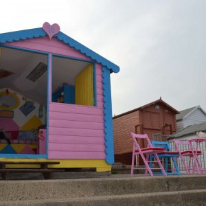 Front Row Beach Hut Hire Jessie Walton on the Naze