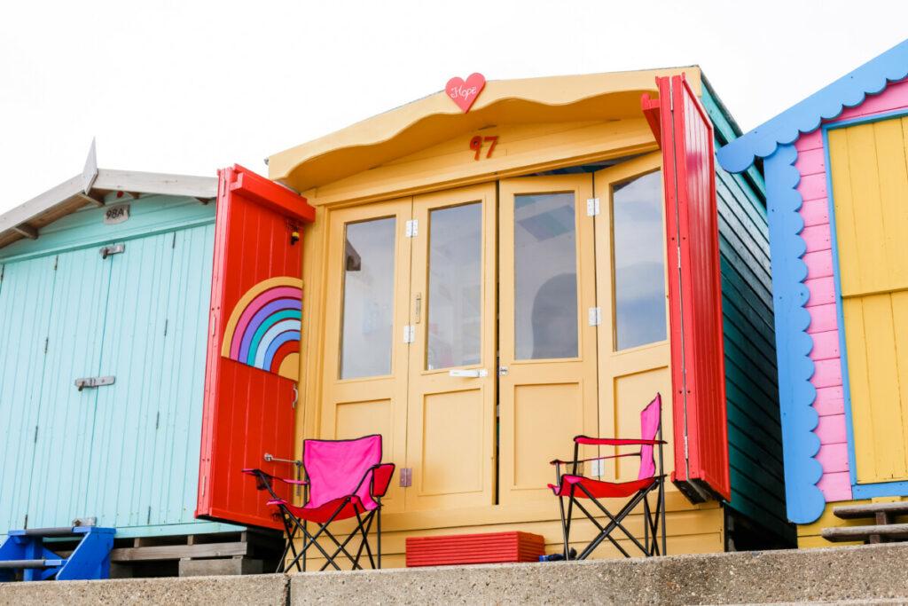 walton-on-the-naze-beach-hut-hire-essex-rainbow-hope-millies-beach-huts